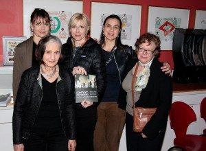 at the book launch, the New School